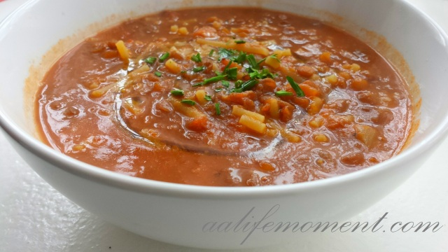 soup of the day - lentils soup