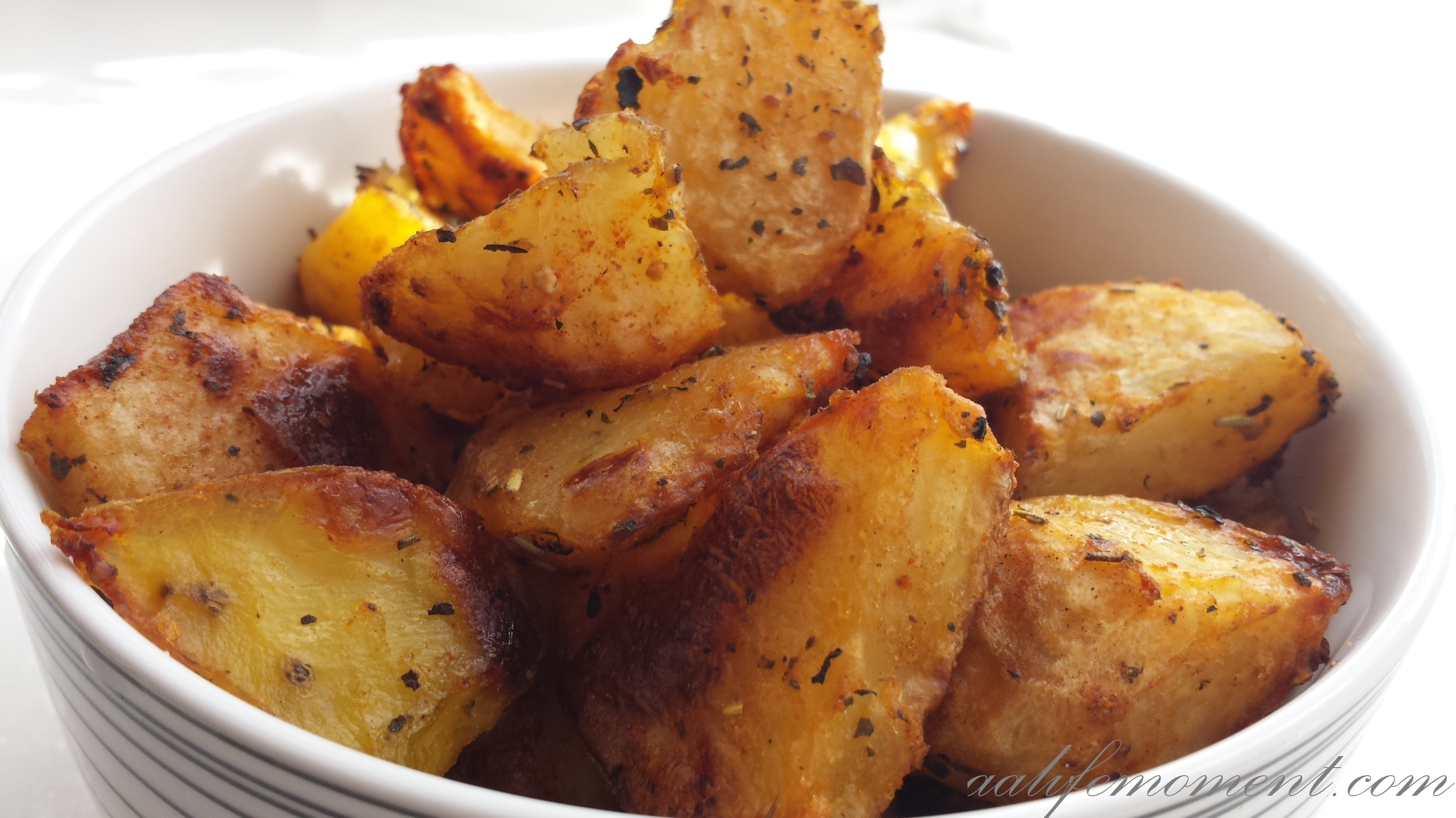 Crunchy Roasted Potatoes (healthy version)