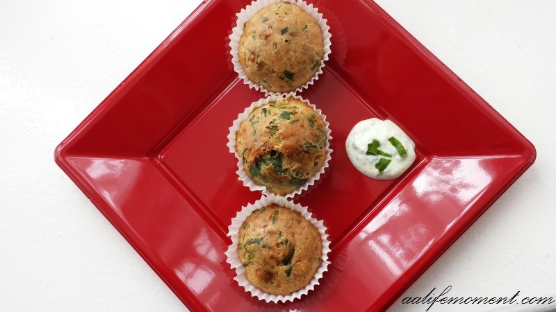 Spinach and Leek muffin