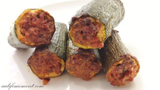 Stuffed Zucchini - Baked version