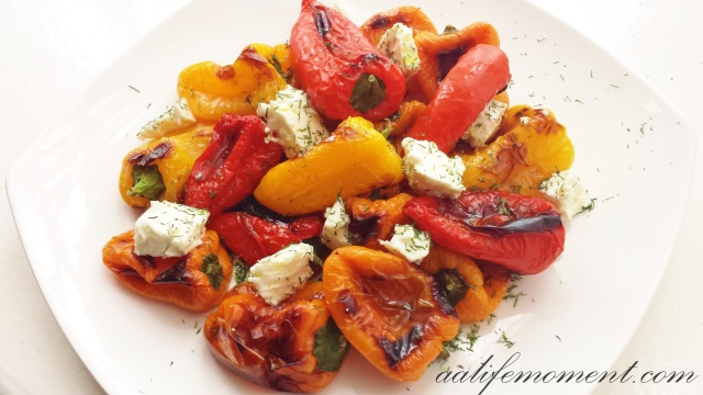 Roasted pepper with Greek feta cheese
