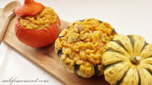 Butternut squash risotto with sage and white wine