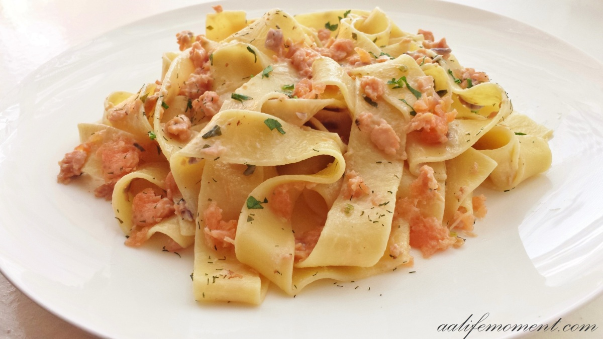 Smoked Salmon Pasta Recipe (Healthy version)
