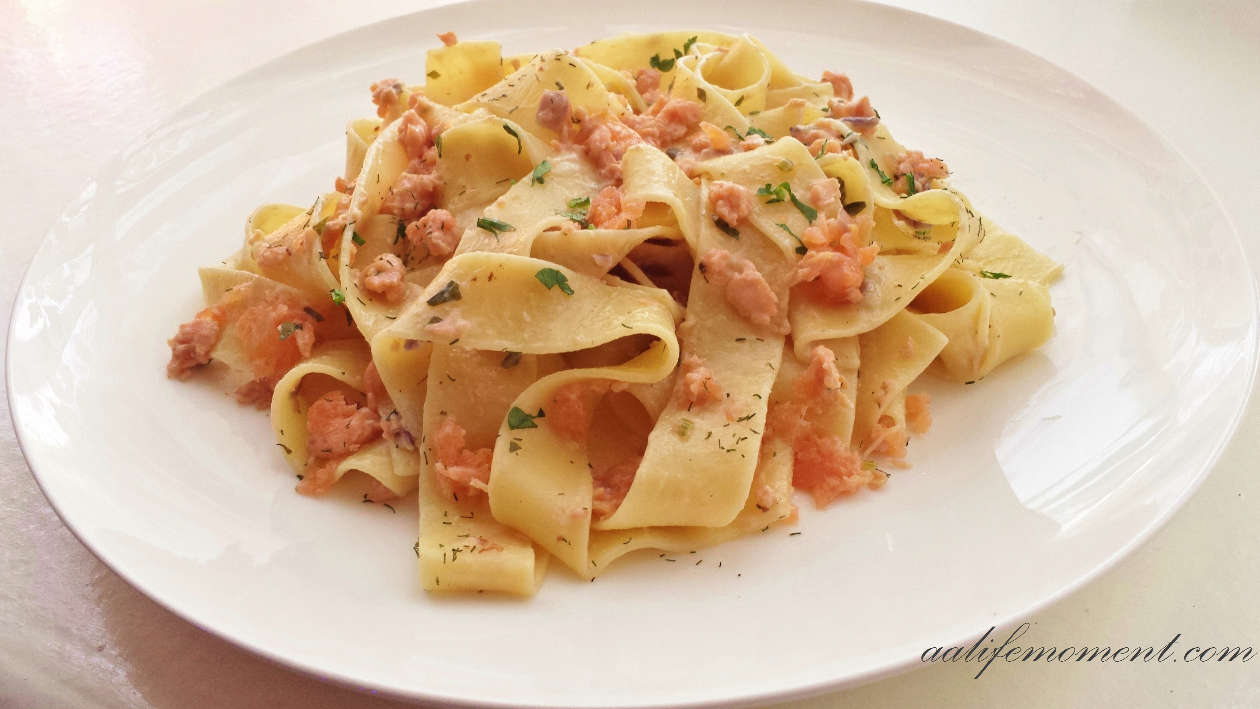 will like this healthy but delicious version of smoked salmon pasta ...