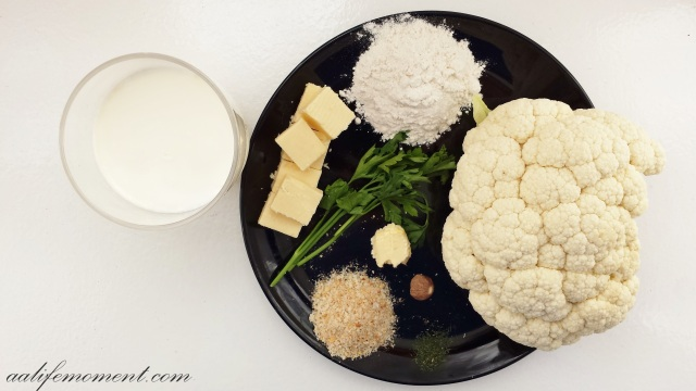 cheesy cauliflower bechamel ingredients