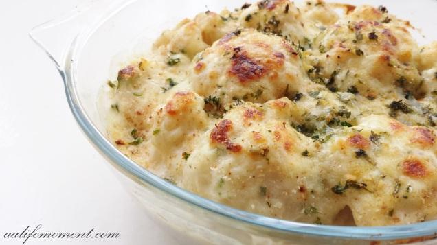 cheesy cauliflower bechamel