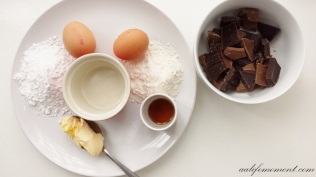 Eggs and Chocolate Molten Lava Cake ingredients