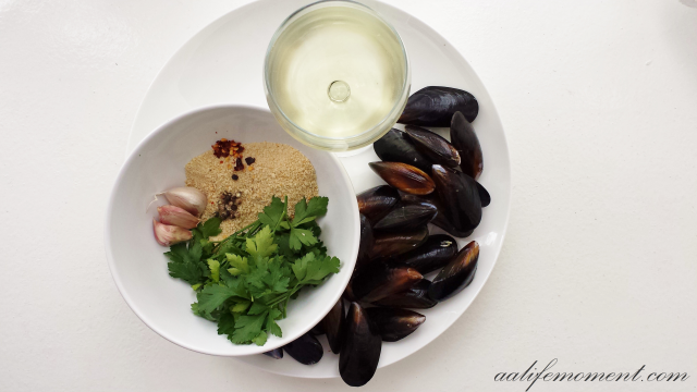 Mussels au gratin ingredients