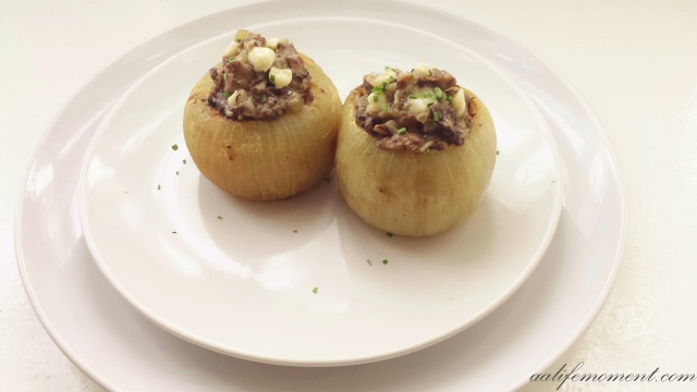 Stuffed Onions Mushroom and brie