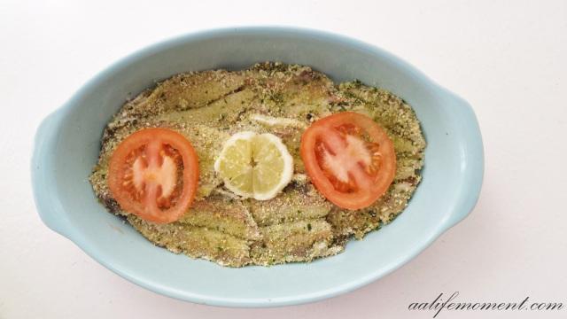 Healthy fish recipe pre-oven