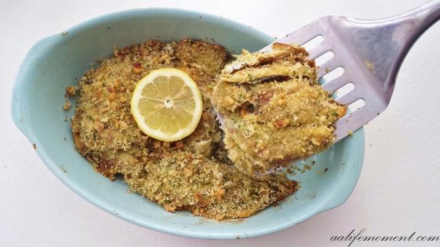 Healthy fish recipe slice