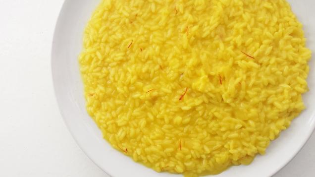 saffron risotto recipe